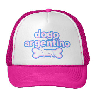 Pink & Blue Dogo Argentino Cap
