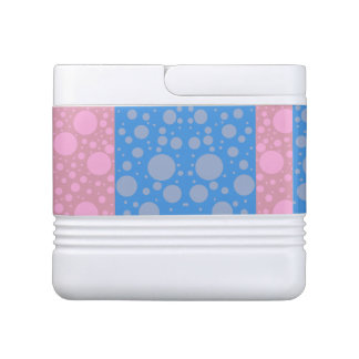 Pink Blue Dots Igloo 12 Can Cooler