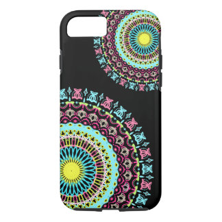 Pink & Blue Double Round Lace Phone Case