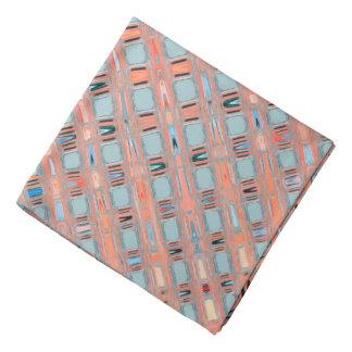 Pink Blue Earth Toned Pattern Bandannas