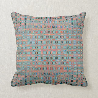 Pink Blue Earth Toned Patterns Cushion