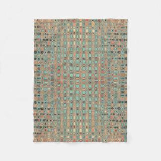 Pink Blue Earth Toned Patterns Fleece Blanket