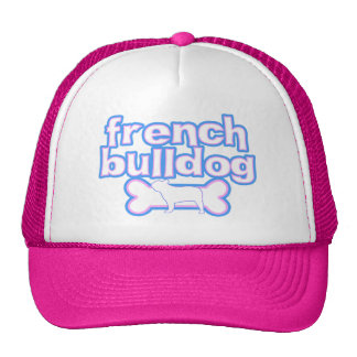 Pink & Blue French Bulldog Trucker Hat