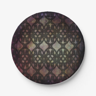 Pink Blue Geo Small Paper Plate