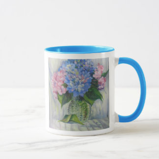 """Pink, Blue, & Glass"" Mug"