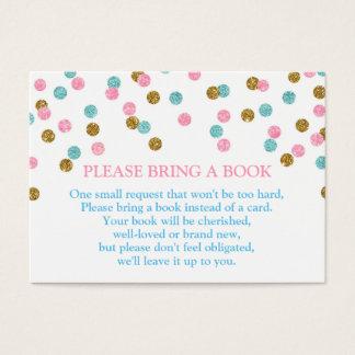 Pink Blue Gold Dots Book Request Card