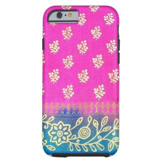Pink Blue Gold Sari iPhone 6 case Tough iPhone 6 Case