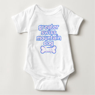 Pink & Blue Greater Swiss Mountain Dog Baby Bodysuit