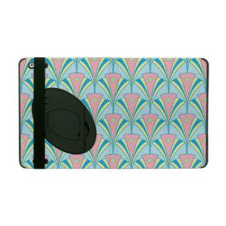 Pink Blue Green Fan Pattern iPad Case