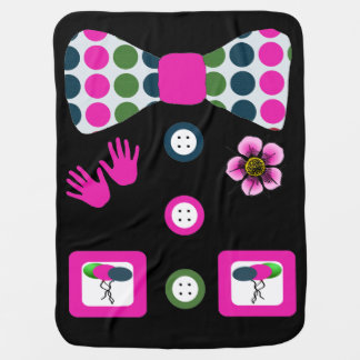 Pink Blue Green Polka Dots Clown Halloween Costume Baby Blanket