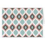 Pink Blue Grey Geometric Ikat Tribal Print Pattern