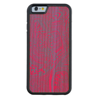 Pink/Blue Hand-drawn Abstract Tribal Crazy Doodle Cherry iPhone 6 Bumper Case