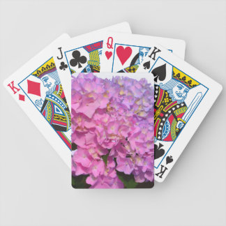 Pink & Blue  Hydrangeas Bicycle Playing Cards