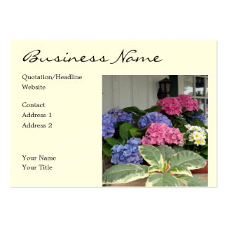 Pink Blue Hydrangeas Business Card Templates