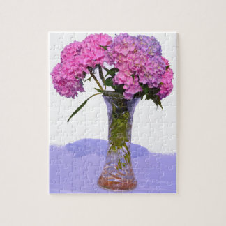 Pink & Blue  Hydrangeas Puzzle