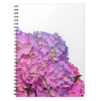 Pink & Blue  Hydrangeas Spiral Notebook
