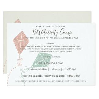 PINK BLUE KITE KIDS ACTIVITY CLASS INVITE TEMPLATE