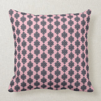 Pink Blue Knot Throw Pillow