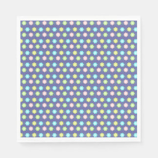 Pink,Blue,Lime,Yellow Abstract - Baby, Kids Paper Serviettes