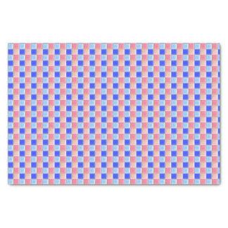 Pink Blue Mosaic Ceramic Tile Tissue Paper | Check