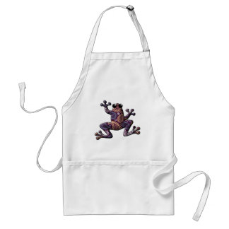 Pink Blue Paisley Climbing Frog Apron
