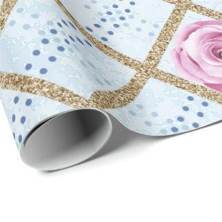 Pink Blue Pastel Grill Glitter Baroque Antonietta Wrapping Paper