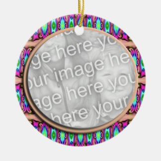 pink blue photo frame round ceramic decoration