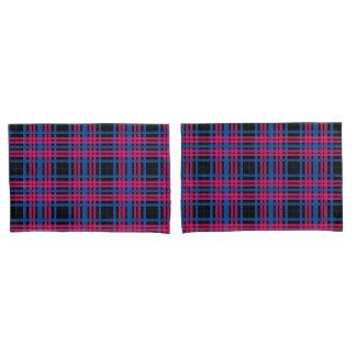 Pink & Blue Plaid Pillow Cases