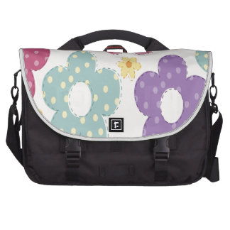 Pink, Blue, Purple and Yellow Flowers Laptop Computer Bag