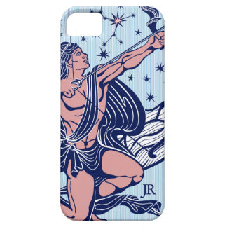 Pink & Blue Sagittarius Astrological Sign GR4 iPhone 5 Covers