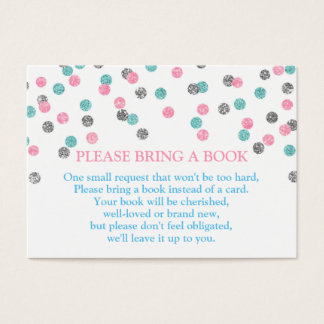 Pink Blue Silver Dots Book Request Card