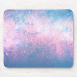 Pink & Blue Starry Sky Cosmic Galaxy Sky Celestial Mouse Pad