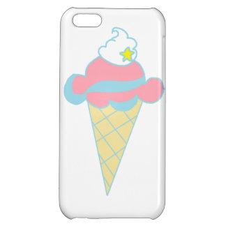 Pink Blue Swirl Star Ice Cream Cone iPhone 5C Case
