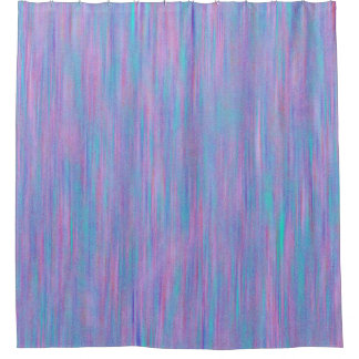 Pink & Blue Texture Stripe Pattern Shower Curtain