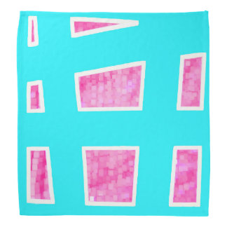 Pink/Blue Unique Geometric Pattern Bandana