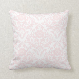 Pink Blush Damask Floral Traditional Pillow