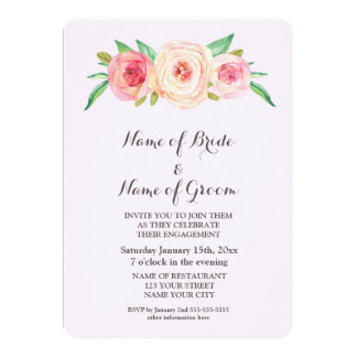 Pink Blush Engagement Party Invite