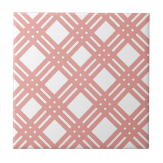 Pink Blush Gingham Tile