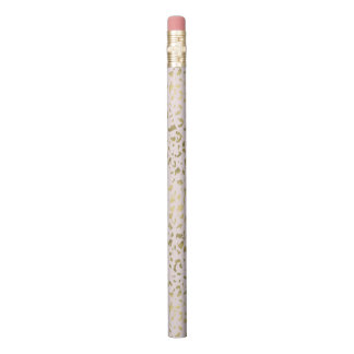 Pink Blush Gold Animal Print Pencil