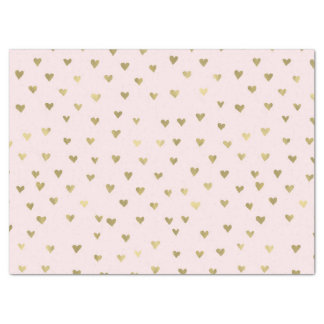 Pink Blush Gold Hearts Tissue Paper