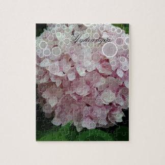 Pink Blush Hydrangea Blossom Puzzle