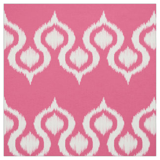 Pink Blush Ikat Tribal Pattern Fabric