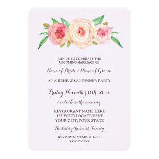 Pink Blush Rehearsal Dinner Party 13 Cm X 18 Cm Invitation Card