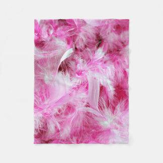 Pink Boa Fleece Blanket