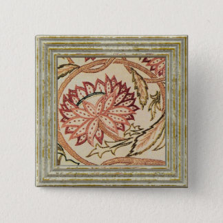 Pink Bohemian Flowers 15 Cm Square Badge