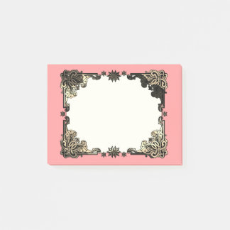 Pink Boho Floral Bohemian Celtic Knot Post-it Notes