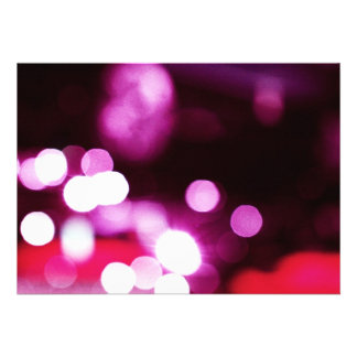 Pink Bokeh Custom Invites
