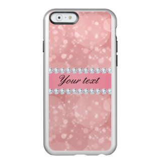 Pink Bokeh Sparkles and Diamonds Personalized Incipio Feather® Shine iPhone 6 Case