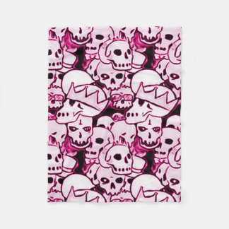 Pink Boneyard Reunion Fleece Blanket