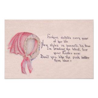 Pink Bonnet Easter Art Photo